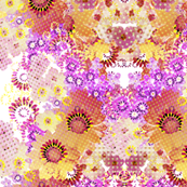 Digital Flower Repeat