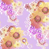 Digital Floral Lilac Wrap