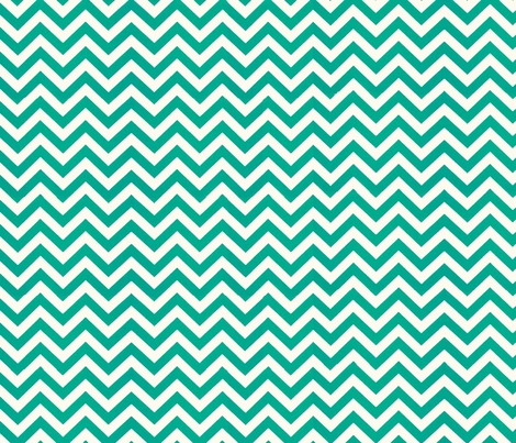 Simply Chevron in Teal