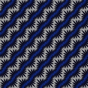 Feathered zigzag