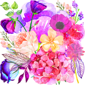 Pretty in Pink Watercolor Floral