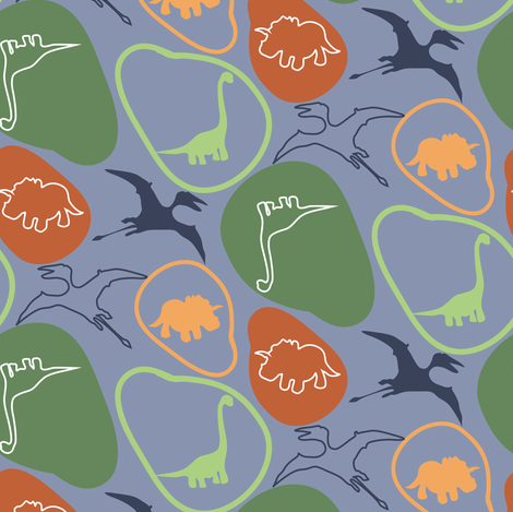 DINO fabric by luhaddad on Spoonflower - custom fabric