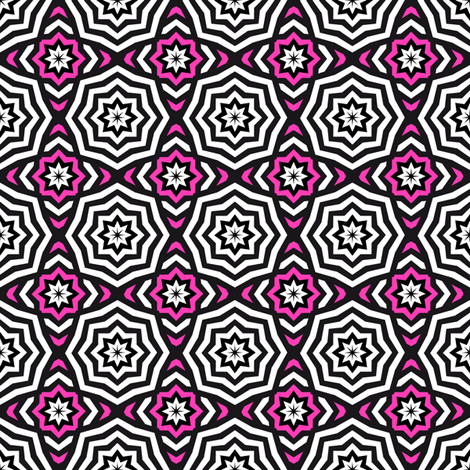 OnlyThe Stars - Hypnotic Pink fabric by vannina on Spoonflower - custom fabric