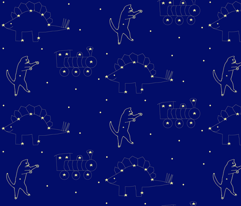 Constellations fabric by serenity_ii on Spoonflower - custom fabric