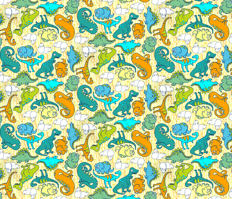 Dino Kin fabric by kari_d on Spoonflower - custom fabric