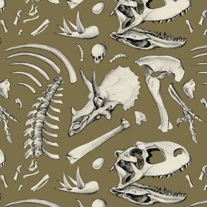 dino bones - brown