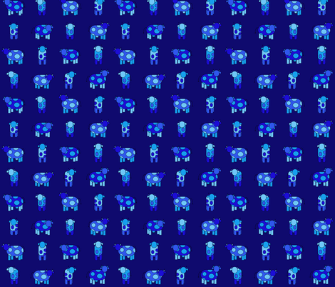 dark blue cows fabric by engelbam on Spoonflower - custom fabric