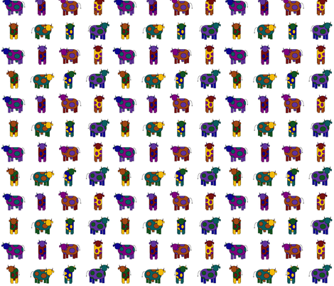 colorful cows fabric by engelbam on Spoonflower - custom fabric