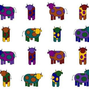 colorful cows