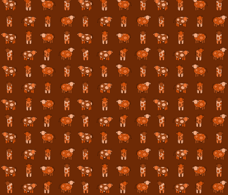 dark orange cows fabric by engelbam on Spoonflower - custom fabric