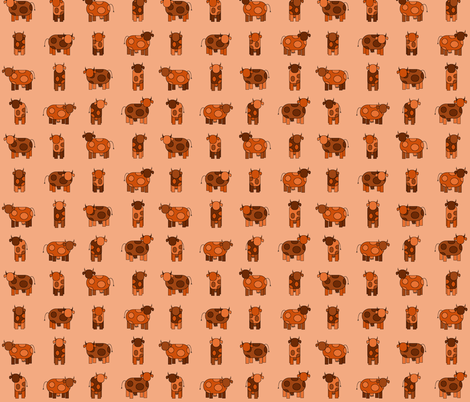 orange cows fabric by engelbam on Spoonflower - custom fabric