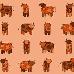 orange cows