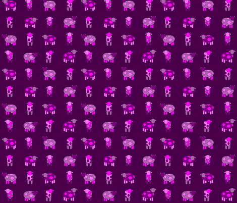 dark pink cows fabric by engelbam on Spoonflower - custom fabric