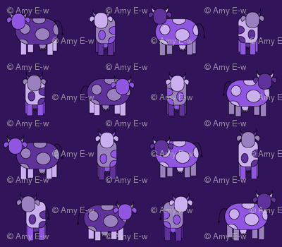 Dark purple cows