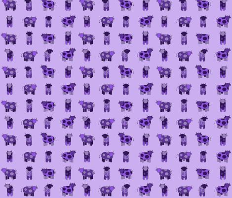 light purple cows fabric by engelbam on Spoonflower - custom fabric