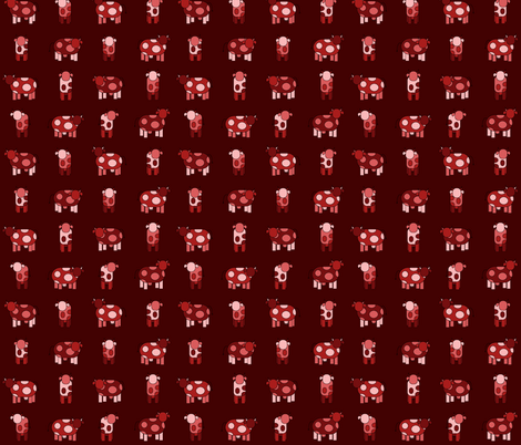 dark red cows fabric by engelbam on Spoonflower - custom fabric