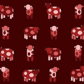 dark red cows
