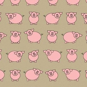 pretty pigs in pink