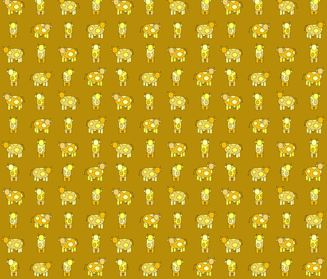 golden cows fabric by engelbam on Spoonflower - custom fabric