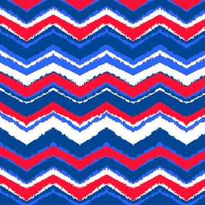 red, white and blue chevron