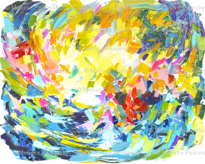 Bright Colorful Painting Print.