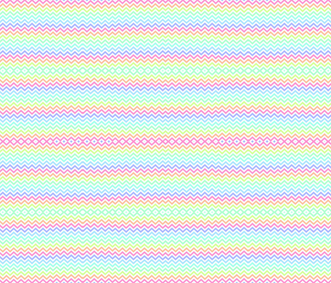 Crazy Chevron in Pastel Rainbow fabric by theartwerks on Spoonflower - custom fabric