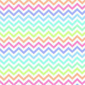 Crazy Chevron in Pastel Rainbow