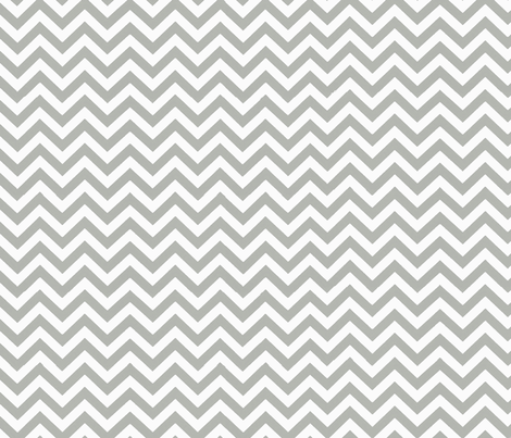 Simply Chevron in Light Grey fabric by theartwerks on Spoonflower - custom fabric