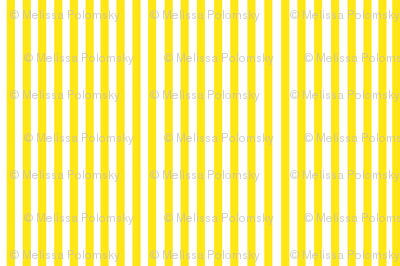 Perfectly Pinstripe in Yellow // White