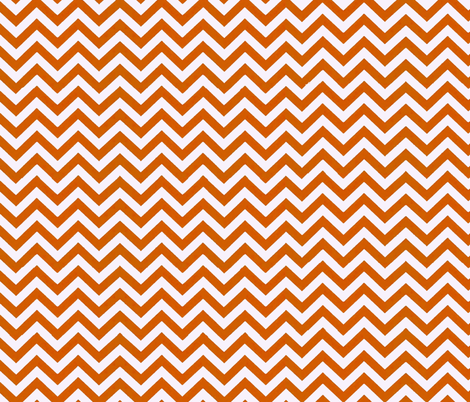 Simply Chevron in UT Burnt Orange fabric by theartwerks on Spoonflower - custom fabric