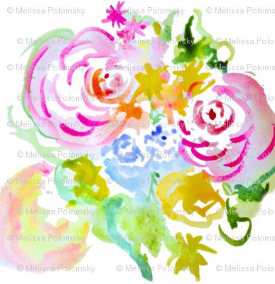 Spring Watercolor Floral Sketch