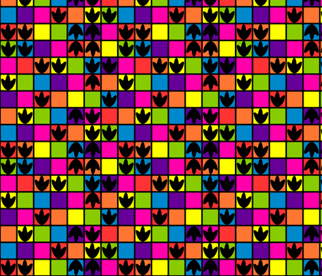 Disco Dino Tracks fabric by modgeek on Spoonflower - custom fabric