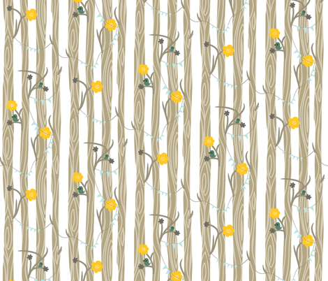 Backyard 001 - Summer Palette fabric by valerie_foster on Spoonflower - custom fabric