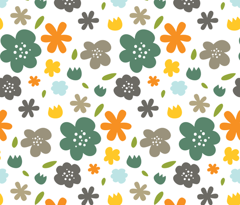 Backyard 004 - Summer Palette fabric by valerie_foster on Spoonflower - custom fabric