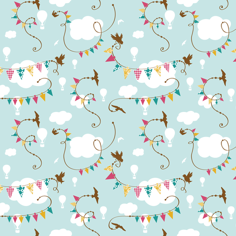 Flight of Fancy 002 fabric by tradewind_creative on Spoonflower - custom fabric