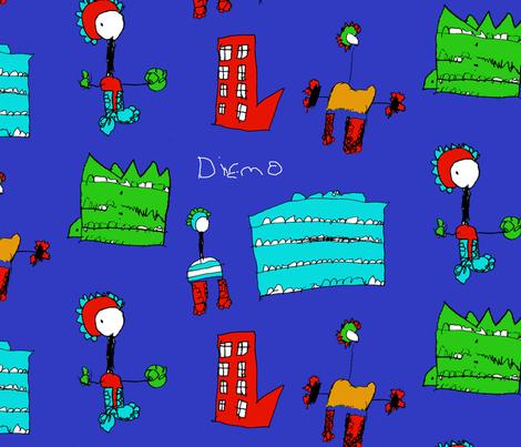 Super Dinosaurs  fabric by diemo on Spoonflower - custom fabric