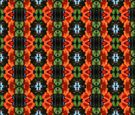 Nasturtium - buckled! fabric by moirarae on Spoonflower - custom fabric