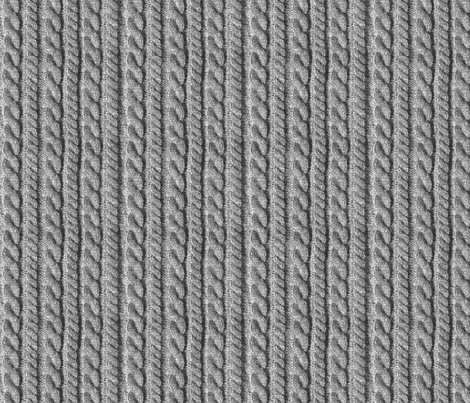 Knitting in grey giftwrap - wantit - Spoonflower