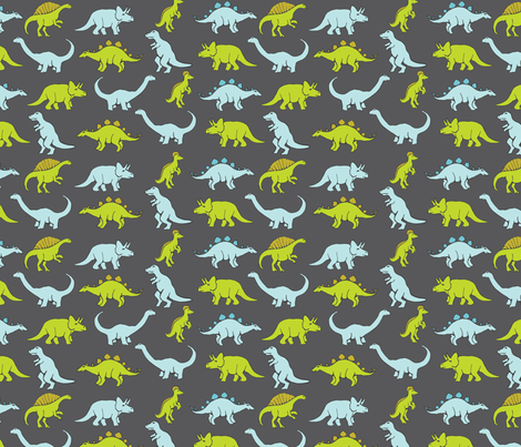 dinosaurs fabric by graphiccookie on Spoonflower - custom fabric