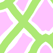 Pink and Lime Lattice