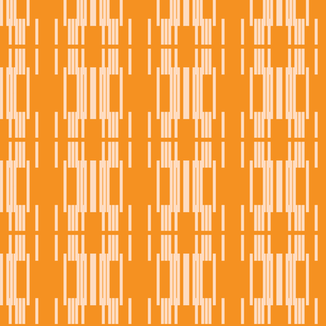 mod line- orange fabric by anieke on Spoonflower - custom fabric