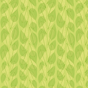 Leaf line overlays - green