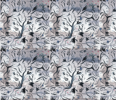 WOODS_PRINT fabric by sandie_tee on Spoonflower - custom fabric