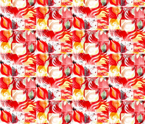 RED_FLAME fabric by sandie_tee on Spoonflower - custom fabric