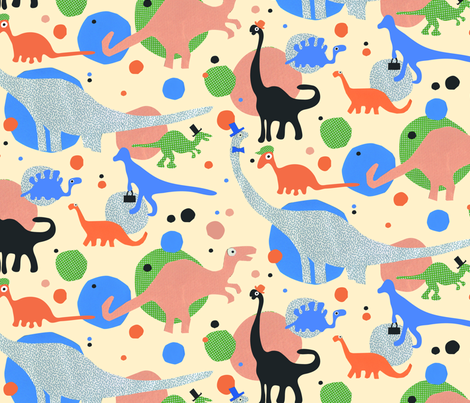 dino-pop fabric by lisahilda on Spoonflower - custom fabric
