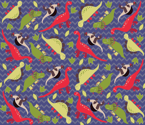 Dinosaurs fabric by garviek on Spoonflower - custom fabric