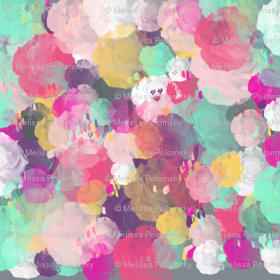 Colorful Abstracted Roses