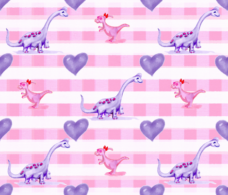 Dinky dino's six fabric by sewpersonal_designs on Spoonflower - custom fabric