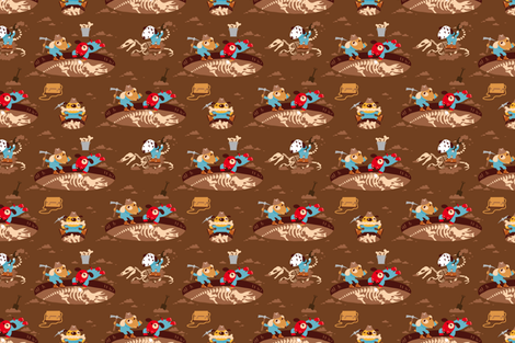 Dig for Big Bones! fabric by verycherry on Spoonflower - custom fabric