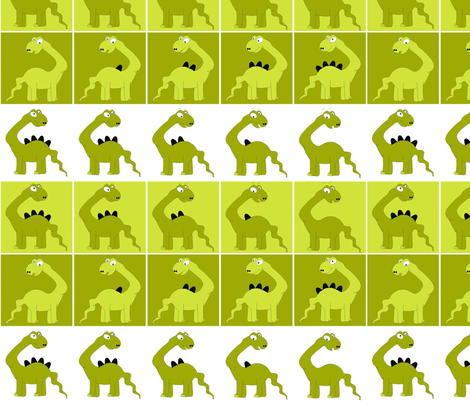 dinasaur_green fabric by tat1 on Spoonflower - custom fabric